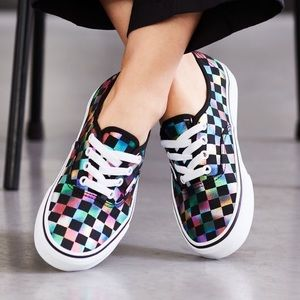 Vans Authentic Sneakers Skate Shoes: Iridescent